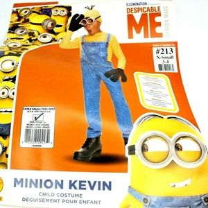 Boys Kevin Minion Halloween Costume Ex-Small 3-4